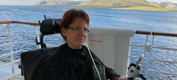 Maryla Sonnenfeld auf einem Kreuzfahrtschiff